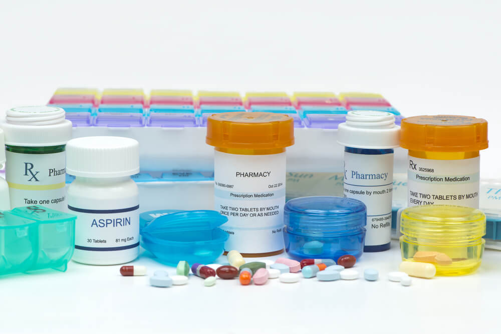 organizing medications to be prepared for visit